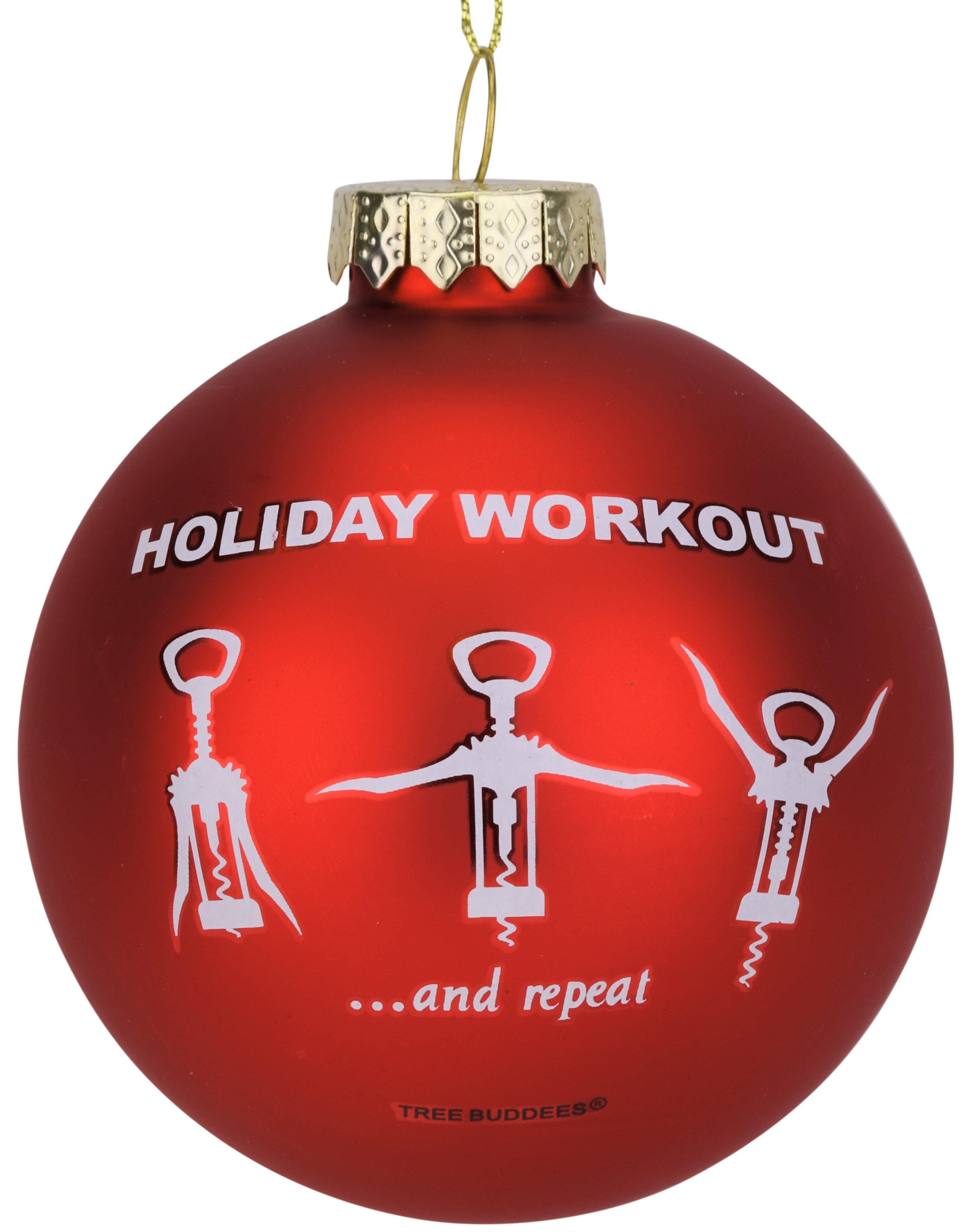 This Is Christmas.Wine Opener Holiday Workout Funny Glass Christmas Ornament Tree Buddees