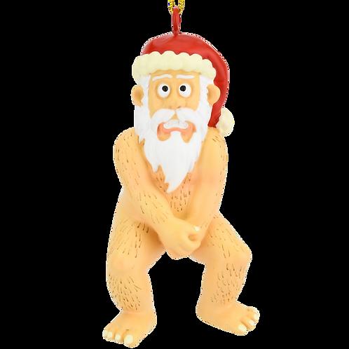 Funny Naked Santa Claus Christmas Ornaments