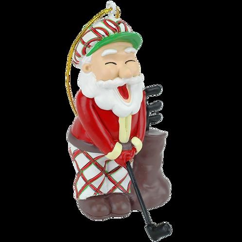 Golfing Santa Claus Christmas Ornament