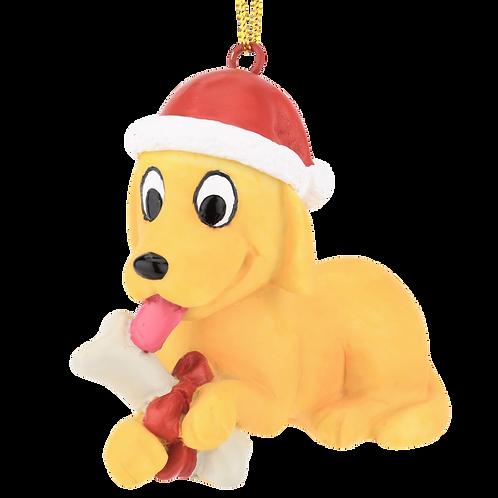 Puppy's First Christmas Christmas Ornament - Golden Retriever