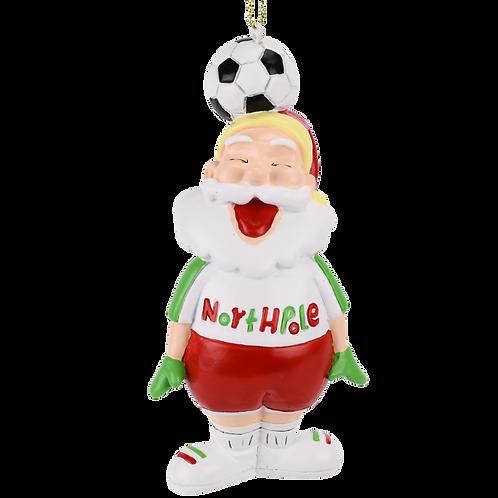 Soccer Santa Sports Christmas Ornament