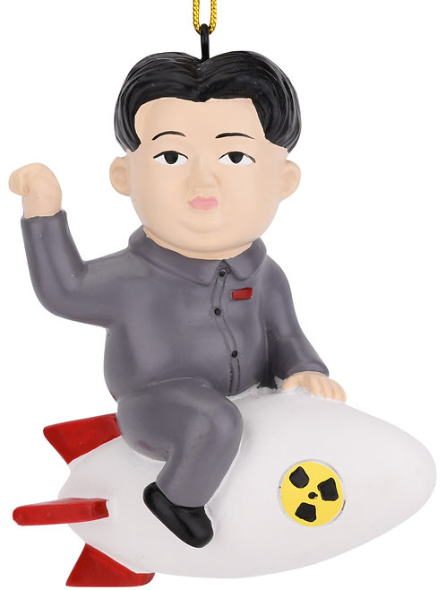 Funny Rocket Man Christmas Ornament