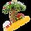 Thumbnail: Xmas Palm Tree Christmas Ornament