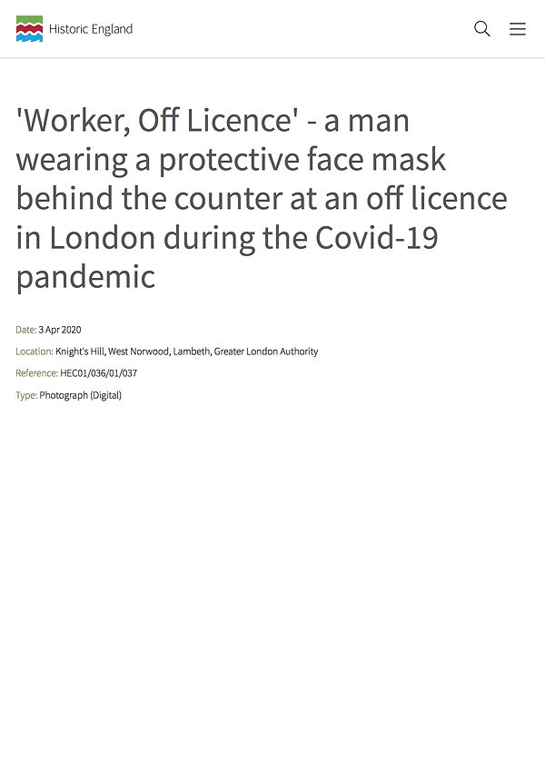 'Worker, Off Licence' - a man wearing a