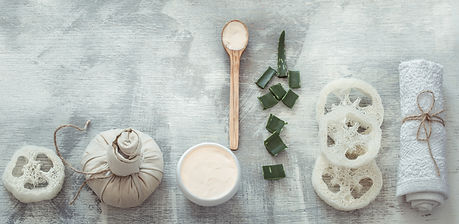 spa-composition-with-body-care-items-on-