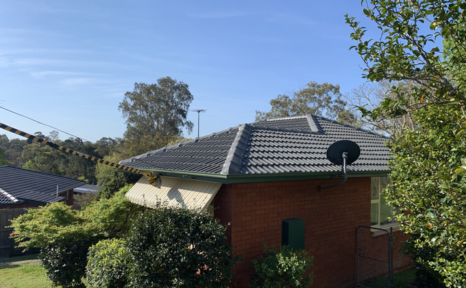 CONCRETE ROOF PAINTING