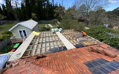 Flat Metal Roof