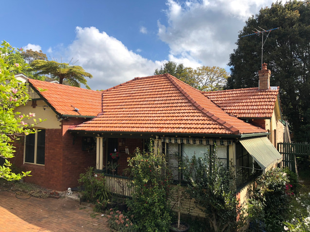 Terracotta Roof Cleaned