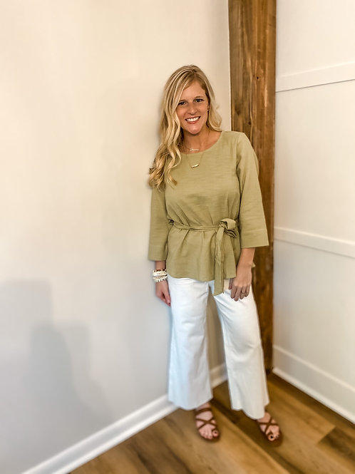 olive toe boat top