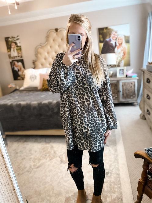 cheetah chic top