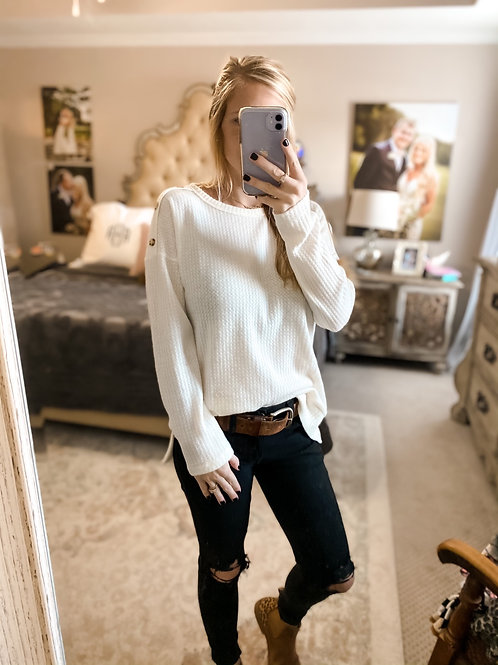 fuzzy button top