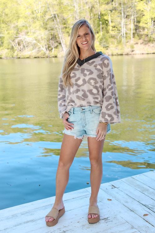 cozy cheetah top