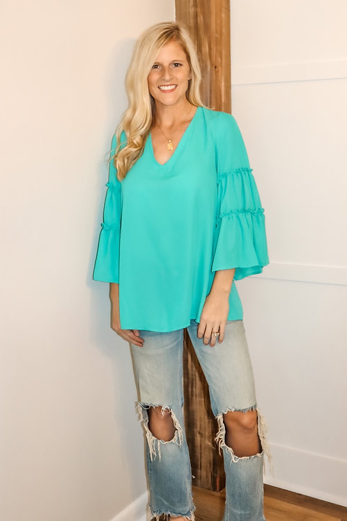 tiered ruffle bell top