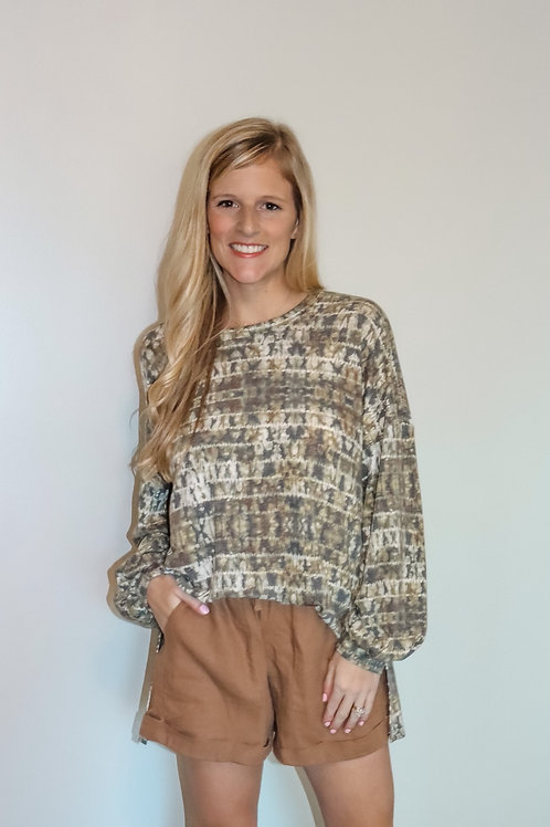 olive pullover/top