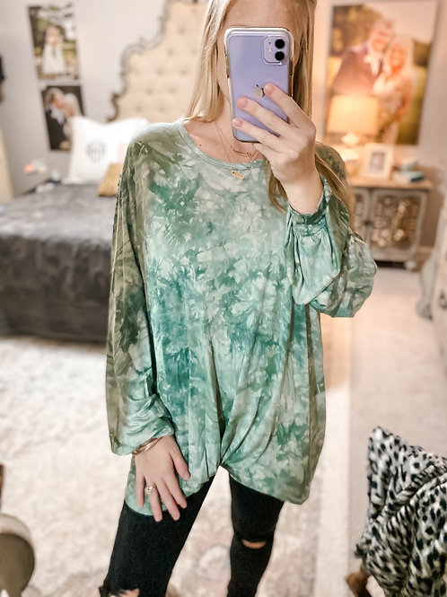 oversized jolly jade top