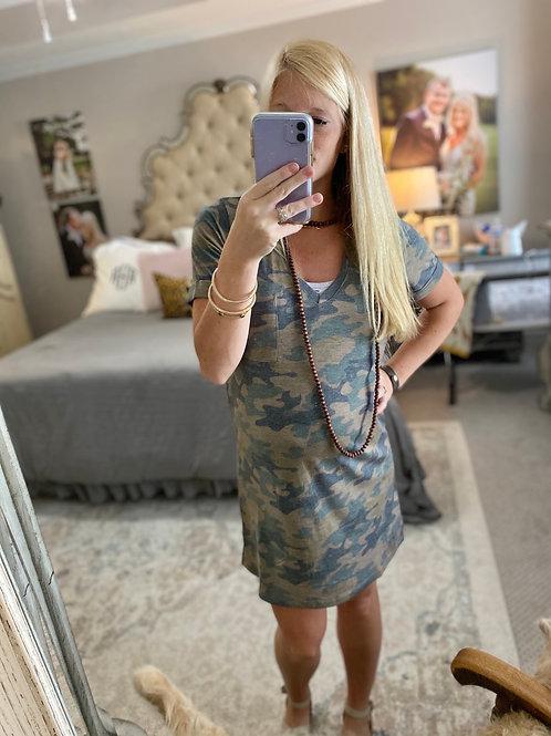 camo tshirt dress