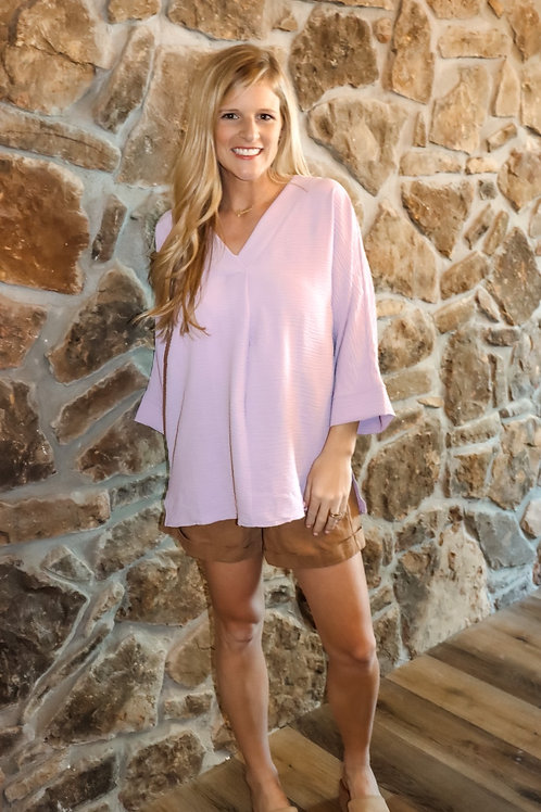 lilac lily top