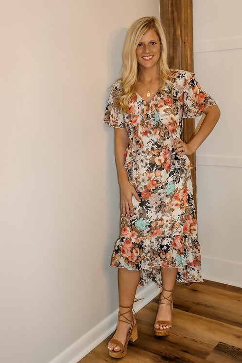 floral high low