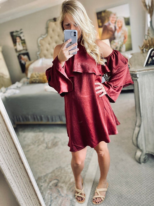 marry me maroon dress