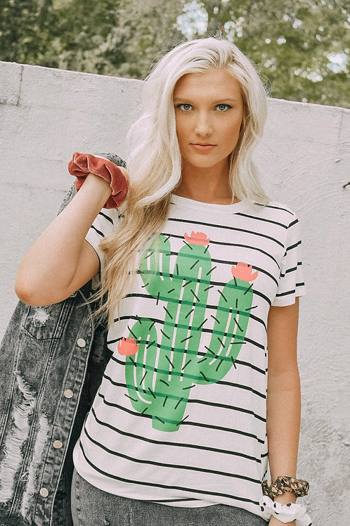 crazy about the cactus tee