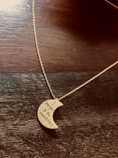 To the moon & back necklace