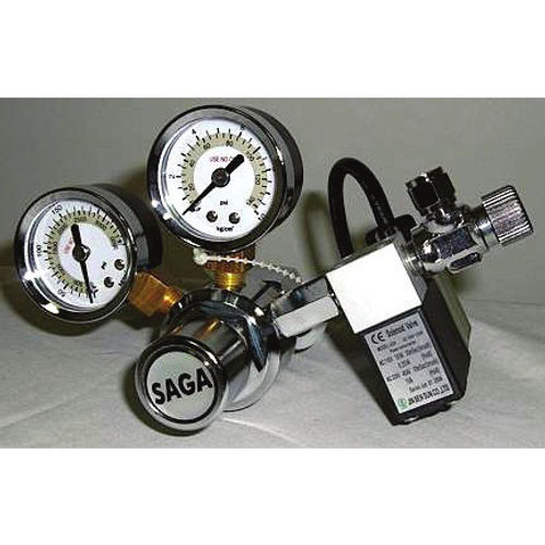Saga Regulator Dual Gauge With Solenoid