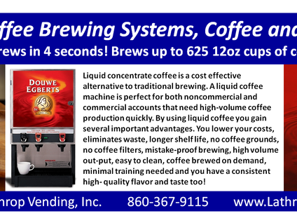 Liquid Coffee Brewing System, Coffee & Services