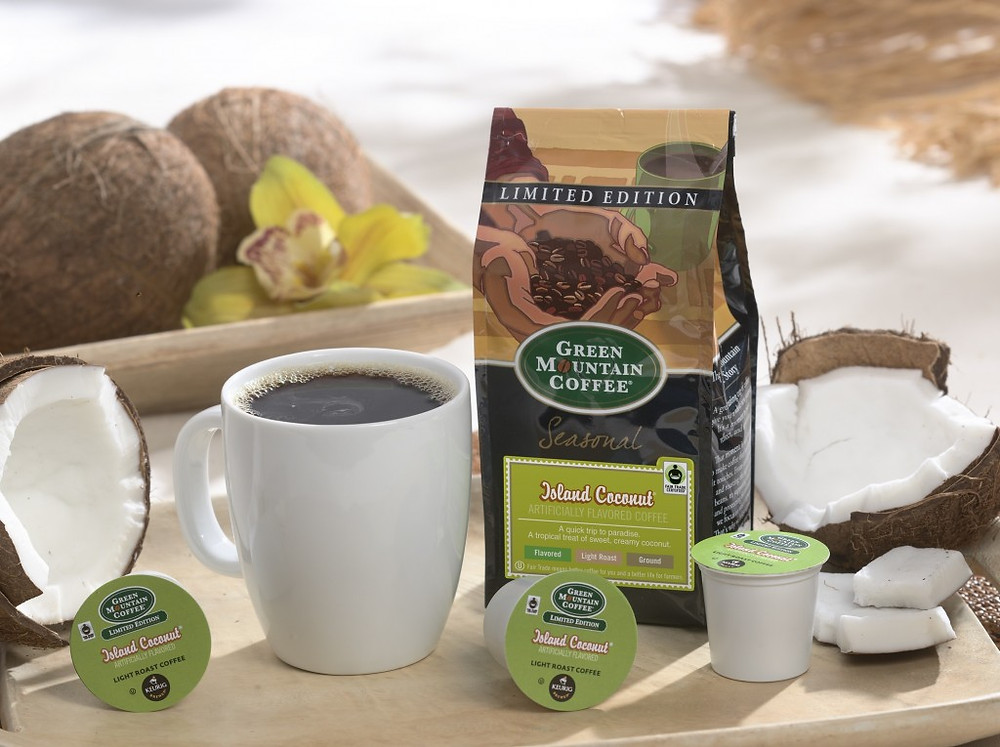 Green Mountain Coffee Island Coconut at Lathrop Vending