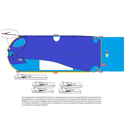 Kit Couchage GRANDE TAILLE C2AG avec 4 Liaisons L115, 1 L3000 avec une Alèse