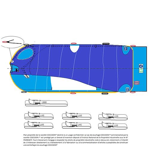Couchage RENFORCE et liaisons supplémentaires et alèse C2R