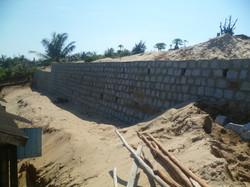 Il muro di sostegno terminato
