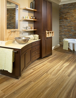 Modern Bath Wood Flooring