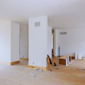 drywall installation with painting and molding