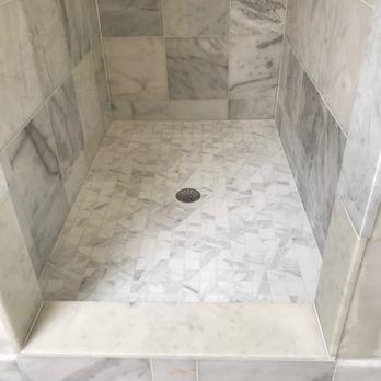 shower remodel: tile installation