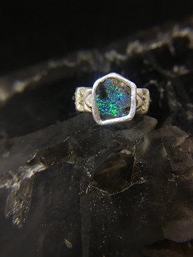 Boulder Opal Echelon Ring