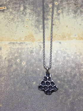 Sterling silver md honeycomb pendent w/ chain upgrade