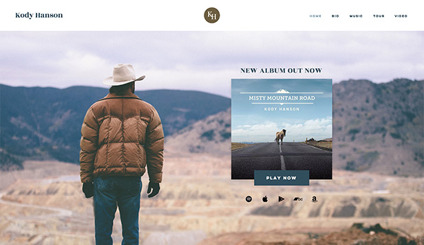 Music website templates – Country Singer