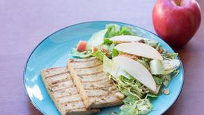 Grilled Mojo Tofu and Apple Vegan Bacon Salad