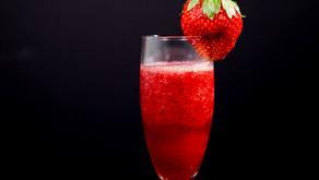 Frozen Strawberry and Pomegranate Bellini