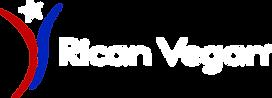 Rican Vegan Logo white letters, transpar