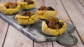 Stuffed Plantain Cups with Yuca and Black Bean Chili