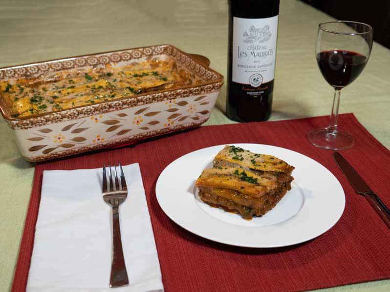 Vegan Pastelon plantain lasagna