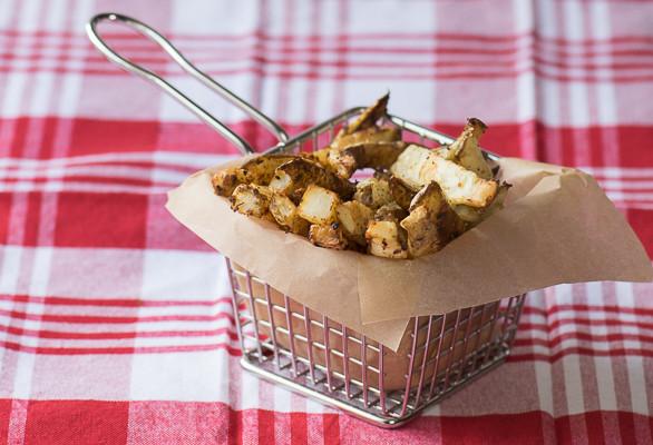 Rican Vegan Adobo Garlic Fries