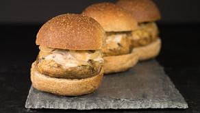 Vegan Marinated Mushroom Sliders With Sautéed Onions