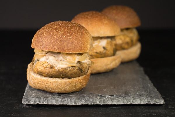Rican Vegan Marinated Mushroom Sliders