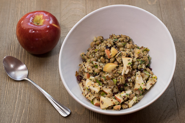 Rican Vegan Apple Quinoa Salad