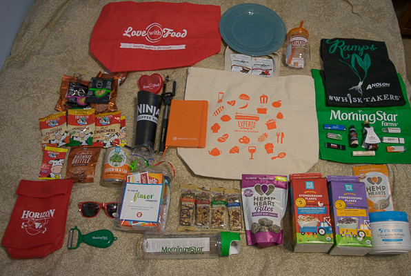 Rican Vegan BlogHer Food 15 swag bag
