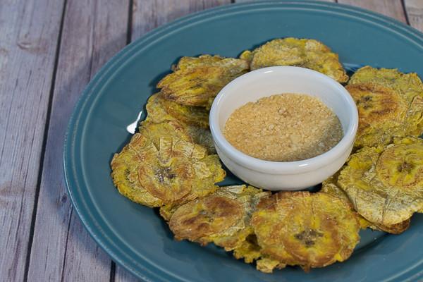 Rican Vegan Oven Fried Tostones