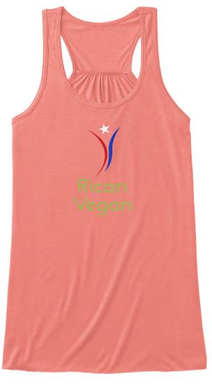 Women's Flowy Rican Vegan Logo Tank Top.