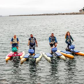 Water biking in Long Beach
